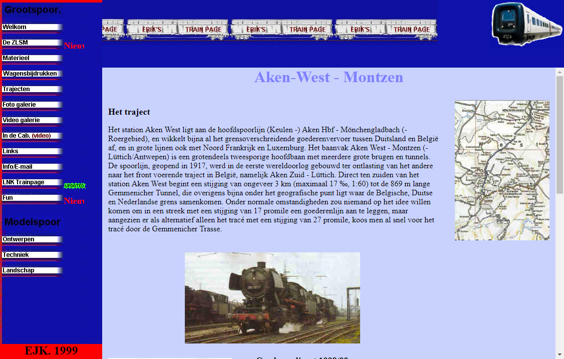 Pagina Aken-West - Montzen van Erik's Train Page